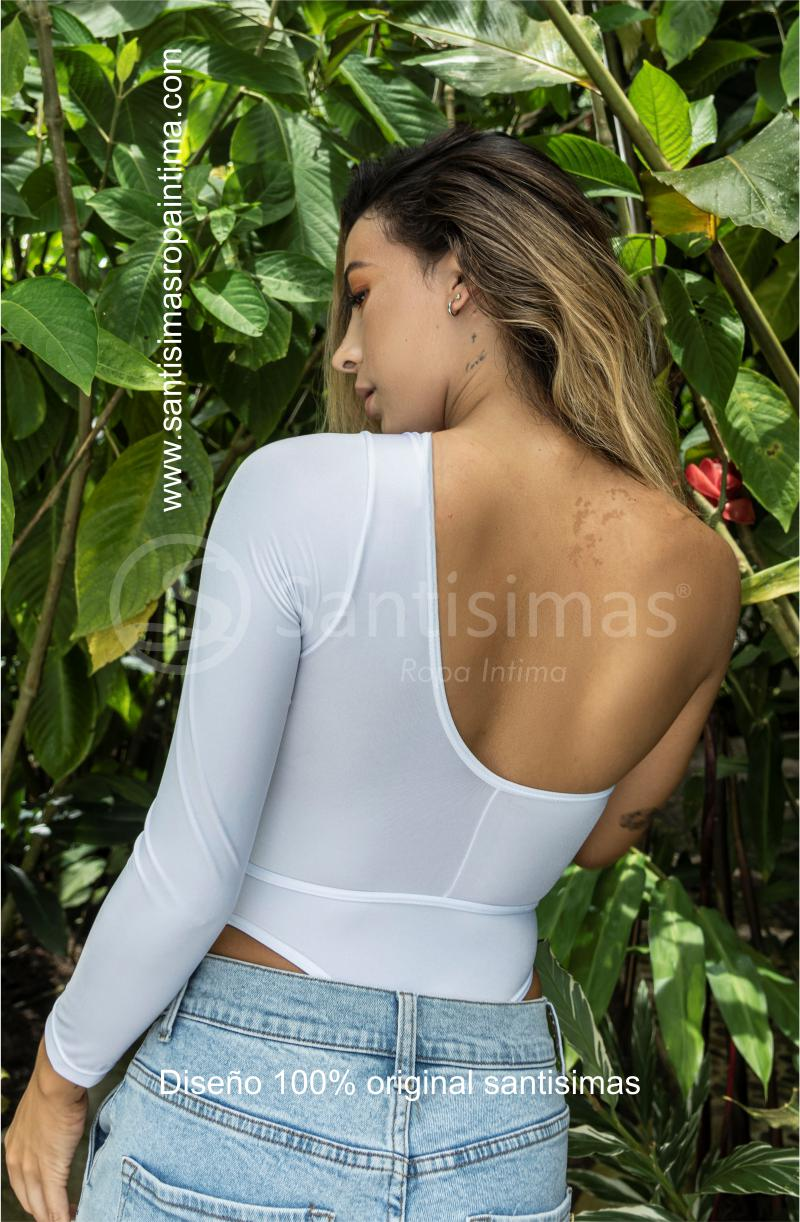 Body Glamazon Blanco Atrás - Santísimas